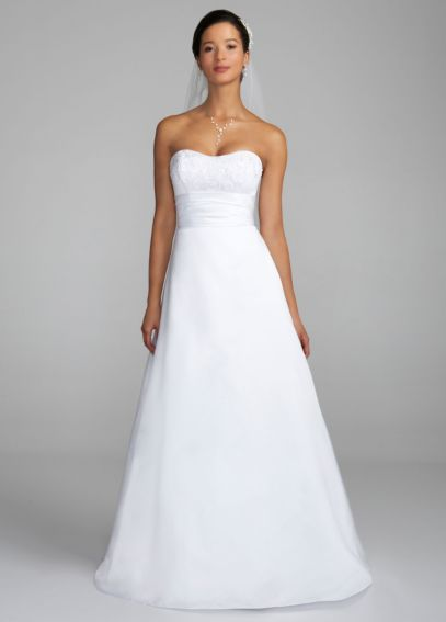 Satin Strapless Al Line Gown with Ruched Waistband OP1002