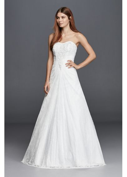 Strapless Wedding Dress with Allover Lace OP1252