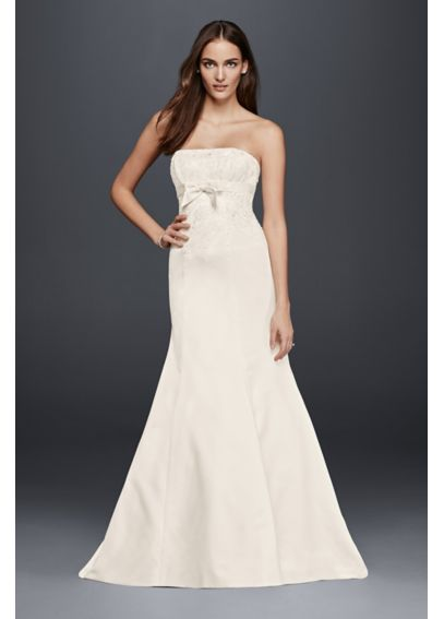 Strapless Mermaid Wedding Dress with Bow Detail OP1263