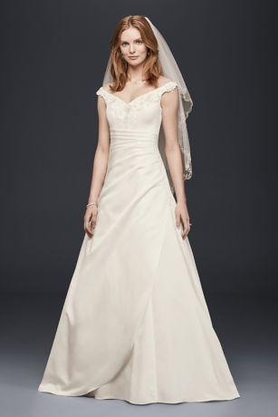 Off the Shoulder Satin Wedding Dresses