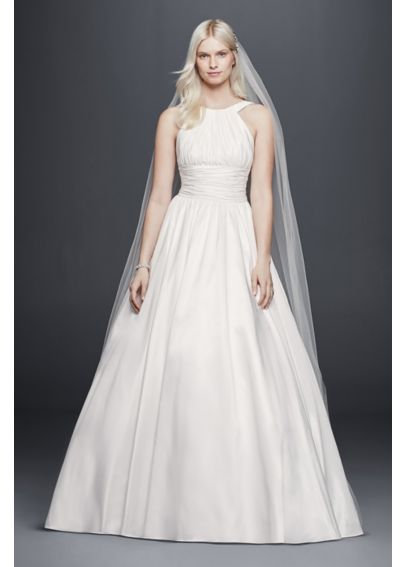 Taffeta Ball Gown with Ruched Bodice and Waist OP1279