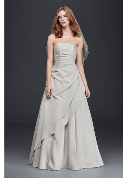 Strapless Satin A-Line Wedding Dress OP1281