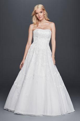 Long Ballgown Formal Wedding Dress   Davidu0027s Bridal Collection