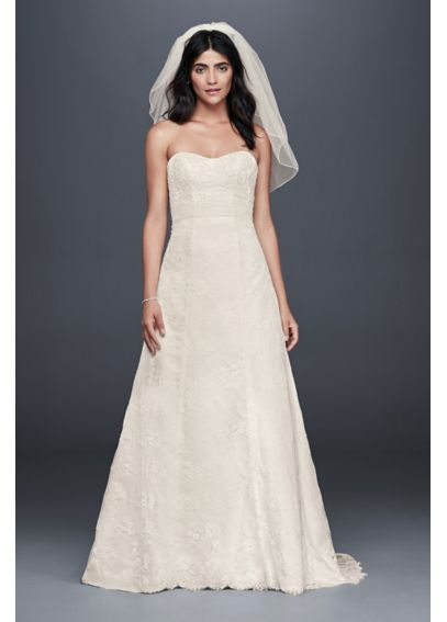 Scalloped Lace A-Line Wedding Dress OP1302