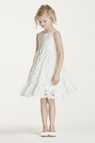 Short white lace flowy dress