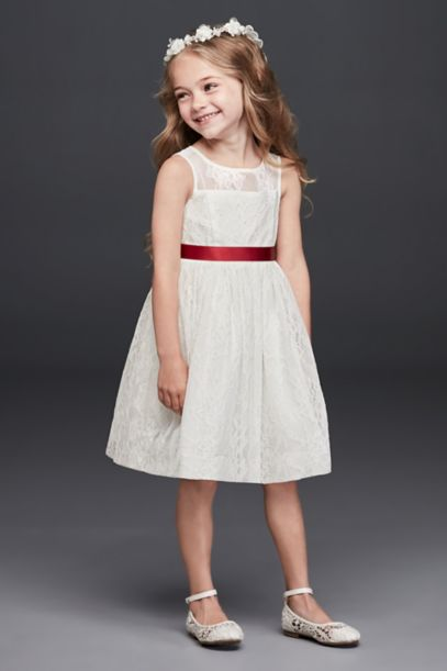 Sleeveless Knee Length Flower Girl Dress - Davids Bridal