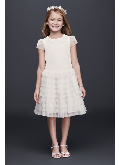 Short A-Line Cap Sleeves Dress - David's Bridal
