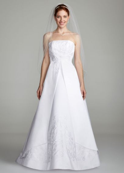 A-line Split Front Wedding Dress with Beading  OP5268