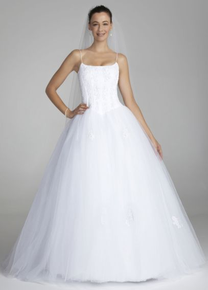 Spaghetti Strap Tulle Ball Gown with Corset OP9004
