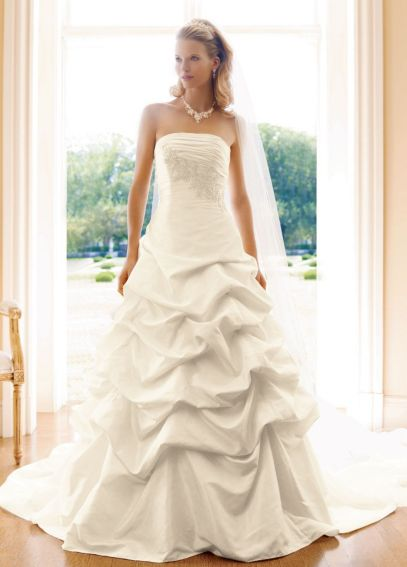 Taffeta Strapless Pick Up Ball Gown with Lace OP9102