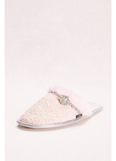 Pretty You London White (Mule Slipper with Crystal Embellishment)