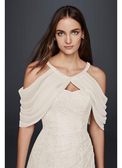 Draped Chiffon Sleeve Topper - Wedding Accessories
