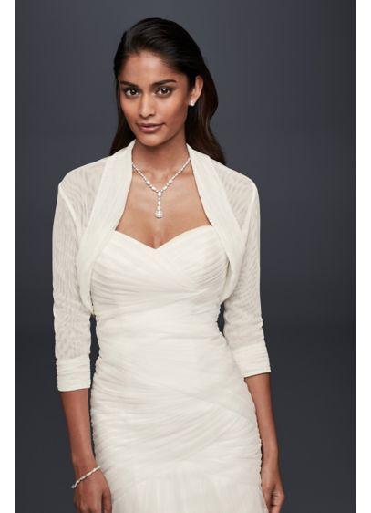 Pleated Tulle Shrug - Wedding Accessories