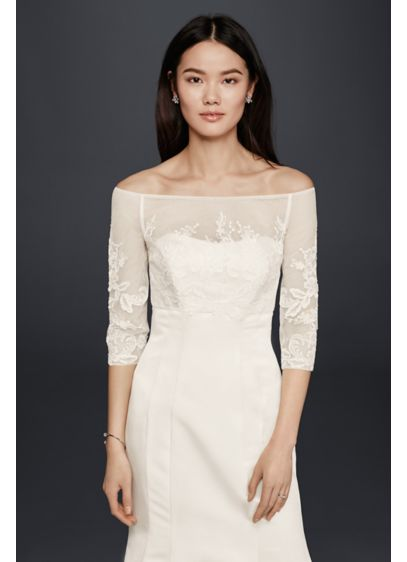 Lace Topper with Buttons - Wedding Accessories