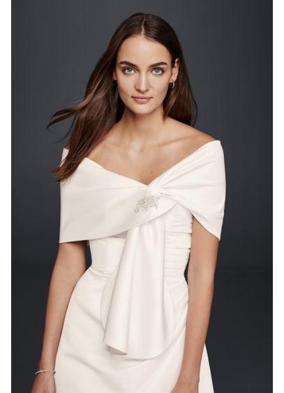 Satin Embellished Wrap - Wedding Accessories