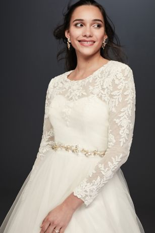 Embroidery and Lace Wedding Dress