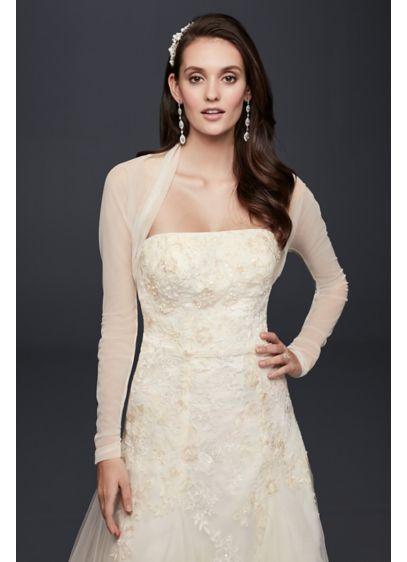 Long Sleeve Tulle Shrug - Wedding Accessories