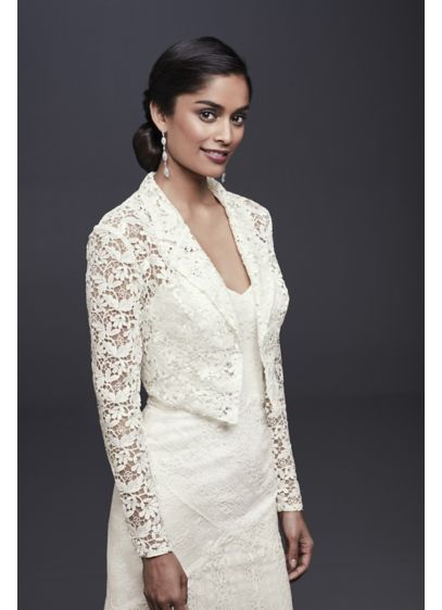 Long-Sleeve Lace Jacket - Wedding Accessories