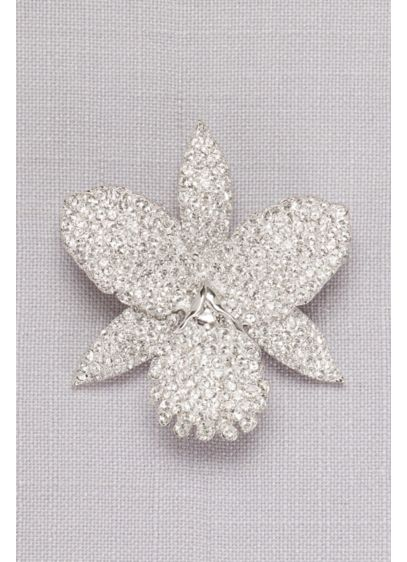 Pave Orchid Brooch - Wedding Accessories