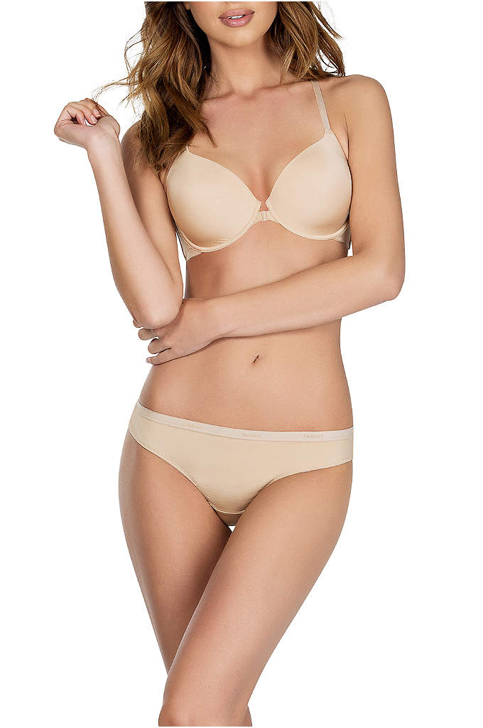 Parfait Lynn Brazilian Thong - An everyday essential, this low-rise microfiber thong disappears