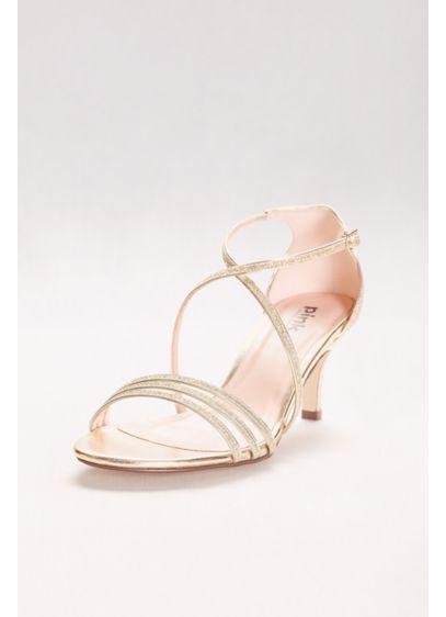 Pink Paradox Yellow (Isla Delicate Thin Strap Metallic Low Heel Sandals)