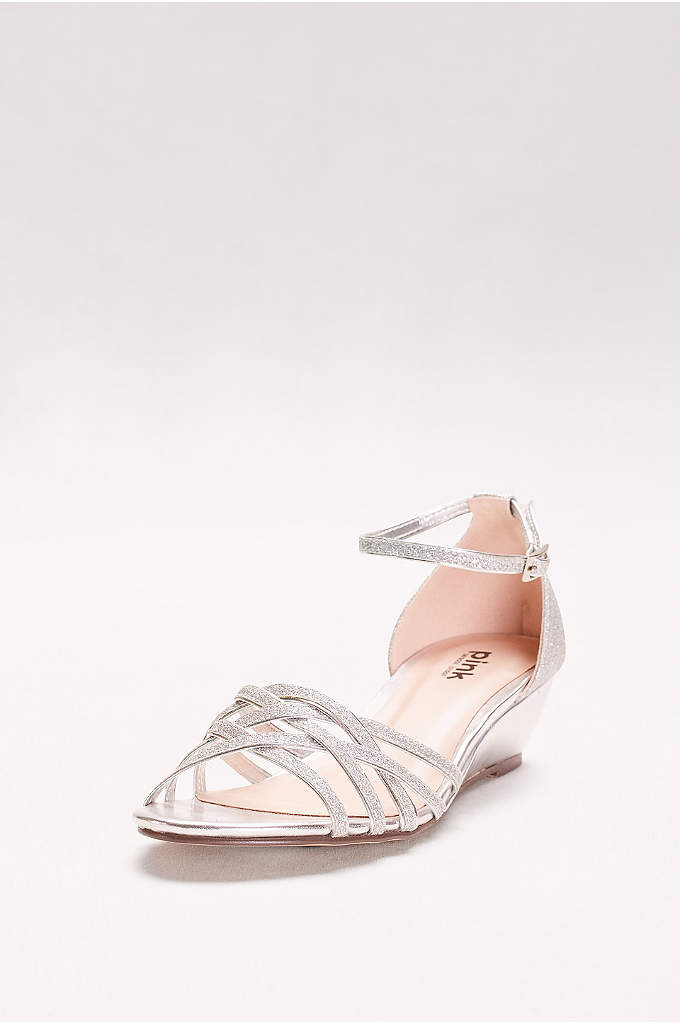 Avery Glitter Mini Wedges with Woven Detail - Keep these glittery mini-wedges on hand for a