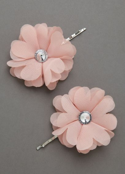 Fabric Floral Design Bobby Pins P33563