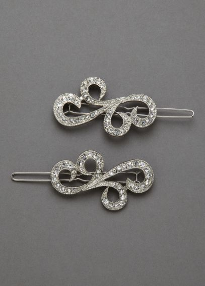 Crystal Motif Hair Pins P35105