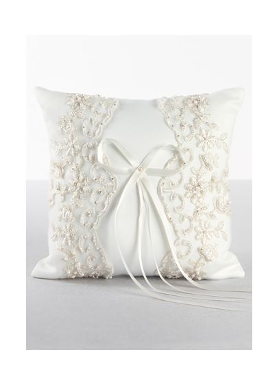 Ivory (DB Exclusive Beaded Lace Ring Bearer Pillow)