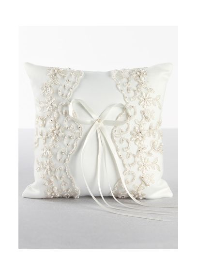 DB Exclusive Beaded Lace Ring Bearer Pillow P440