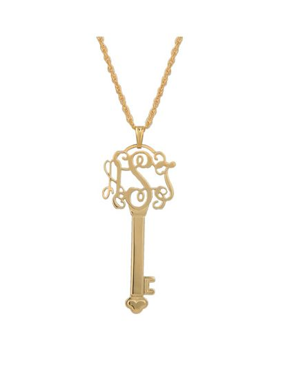 Personalized Filigree Key Necklace P480