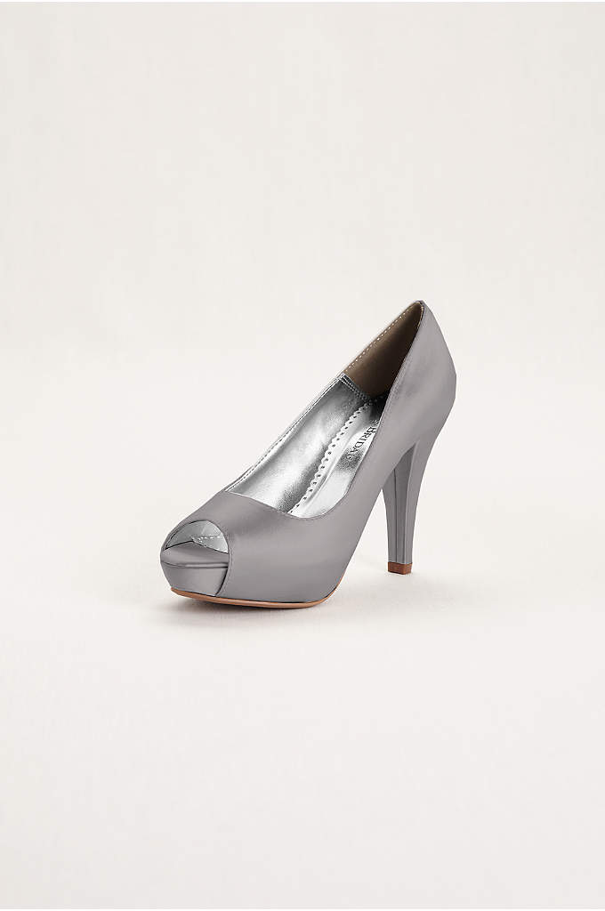 Dyeable Satin Platform Peep Toe - Simple and elegant the perfect accessory for any