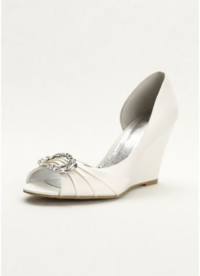 Touch of Nina White (Touch of Nina Wedge Sandal)