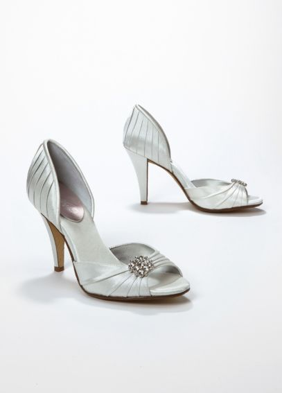Peep toe d'Orsay high heel with crystal ornament PASSION