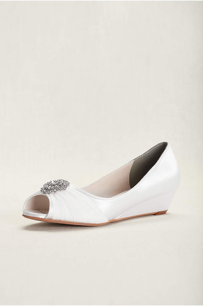 Touch Ups Patience Dyeable Wedge Pump - Patience is a classic wedge peeptoe pump that