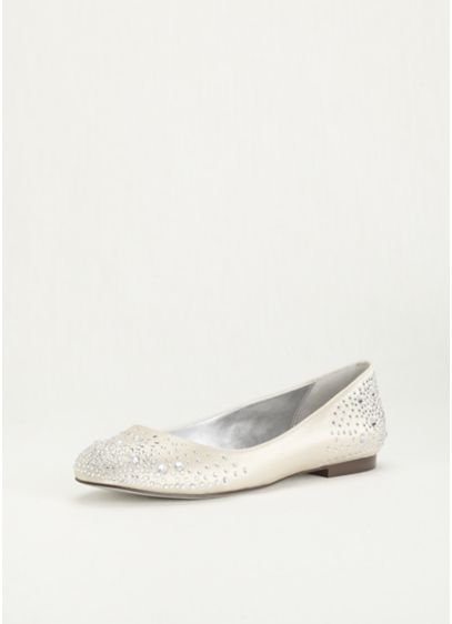 Nina Ivory (Nina Ballet Flat with Scattered Crystals)