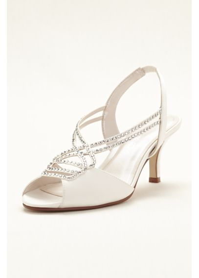 Caparros Mid Heel Sandal with Crystal Straps PHILOMENA
