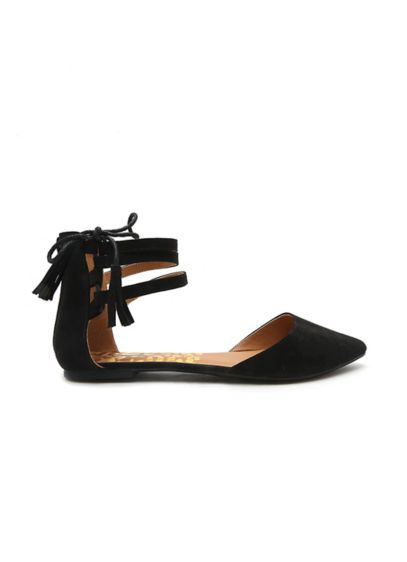 Qupid Yellow (Tassled Ankle-Strap Flats)