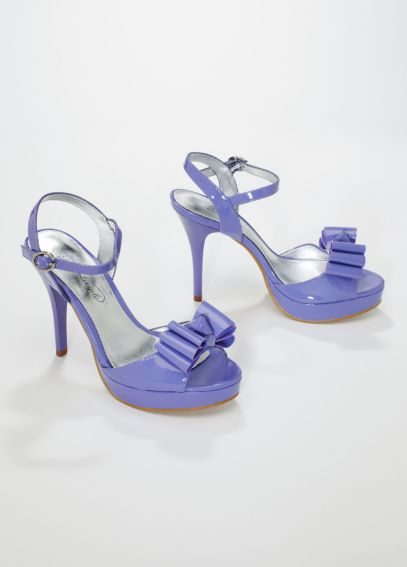 Patent High Heel Platform with Triple Bow PIPPA