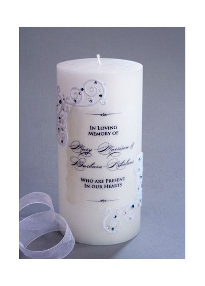 Personalized Piazza Lace Memorial Candle PL2C360