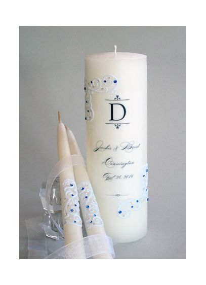 Personalized Piazza Lace Unity Candle Set - Wedding Gifts & Decorations