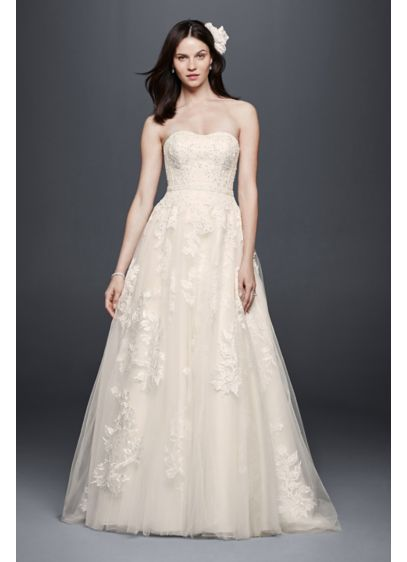 Long Ballgown Romantic Wedding Dress - Priscilla of Boston