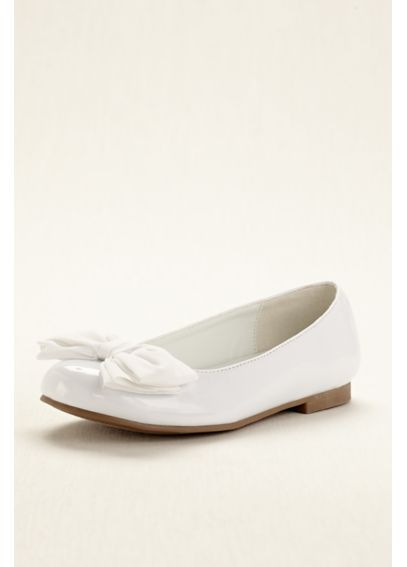 Touch of Nina Flower Girl Ballet Flat with Bow PORTIA