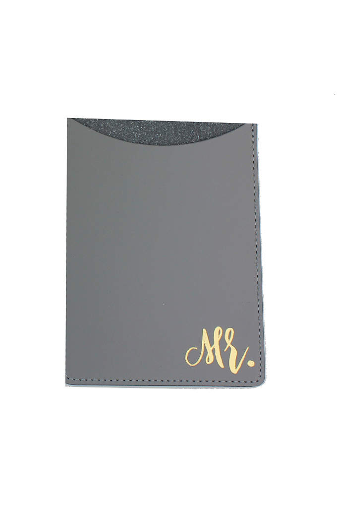 Mr and Mrs Passport Holders - Embossed in gold, these Mr. and Mrs. Passport