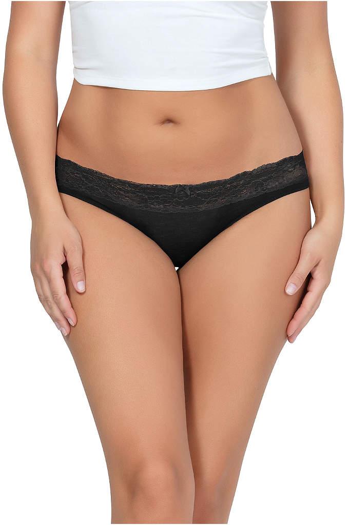 Parfait So Essential Bikini - Scalloped lace trim and comfy modal combine to