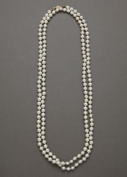 Classic Long Strand Pearl Necklace  PRL20195302