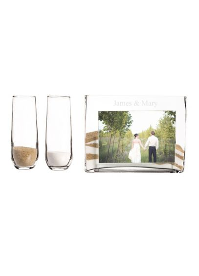 Personalized Sand Ceremony Photo Vase Unity - Wedding Gifts & Decorations