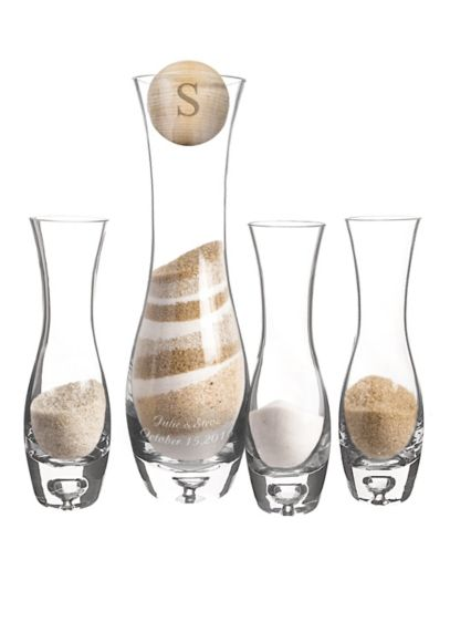 Personalized 4pc Rustic Unity Sand Ceremony Set - Wedding Gifts & Decorations