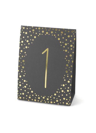 Yellow (Polka Dot Table Number Tents 1-40 Set)