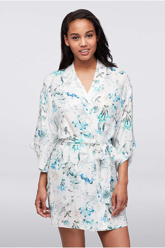 Flora Nikrooz Delilah Robe - Soft and comfy floral-printed rayon, finished with flowing